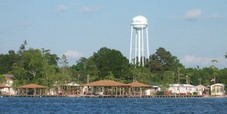 Watertower viewed over White Lake NC
